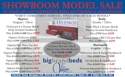 Our Current Bed & Mattress Advert