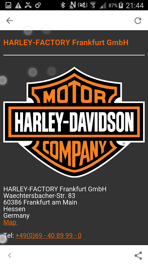 HarleyMobile- screenshot