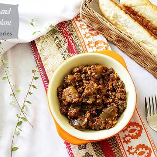Beef and Eggplant Sauce