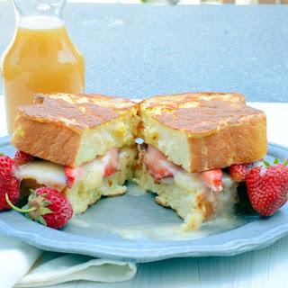 Mascarpone and Strawberry Stuffed French Toast