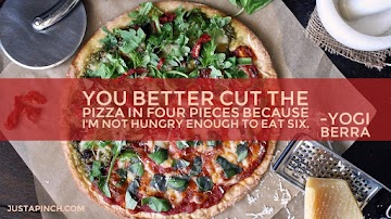 You Better Cut The Pizza In Four Pieces Because I'm Not Hungry Enough To Eat Six. Recipe