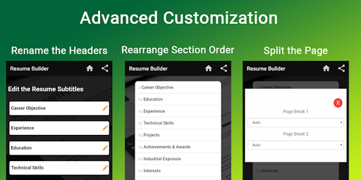 Resume builder Free CV maker templates formats app 9.3 screenshots 3