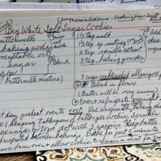 Amish Big White Soft Sugar Cookies.