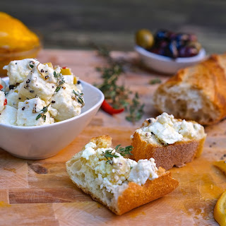 (Kitchen Staple) Marinated Feta Cheese with Lemon and Thyme