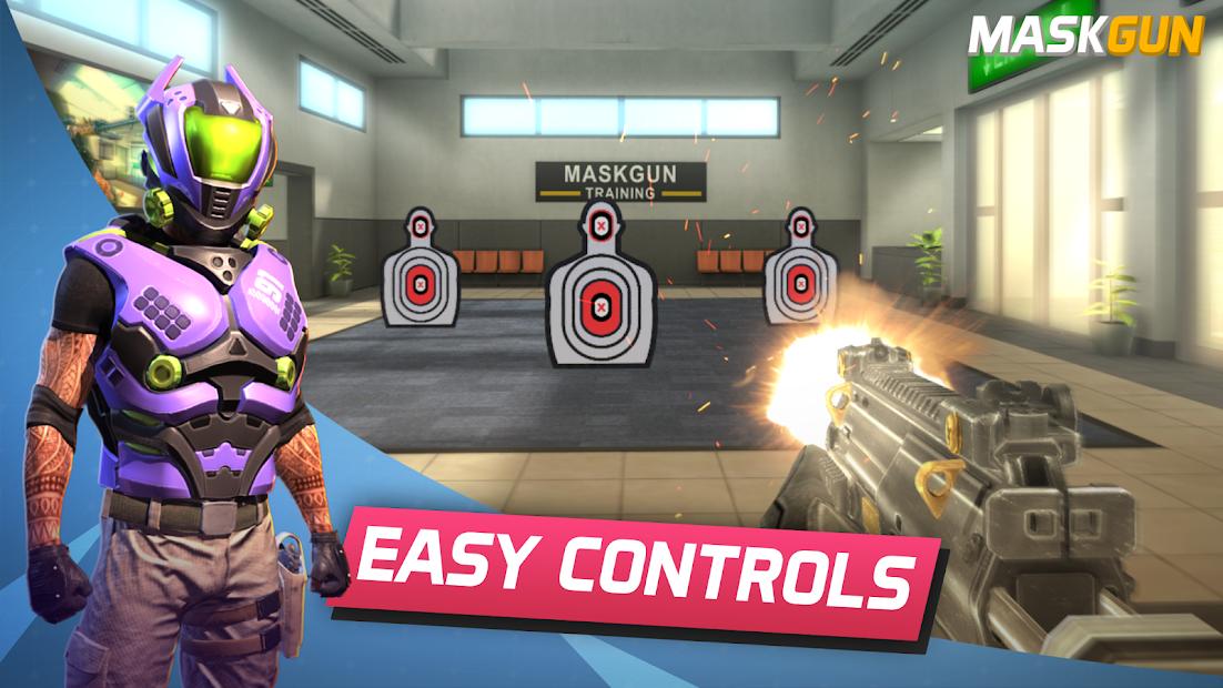 MaskGun Multiplayer FPS - Free Shooting Game Android App Screenshot
