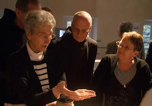 Photo: Deux témoins importants avec les frères d'En Calcat : les lissières, Janine Dassonval et Marie-Claude Daubusson
