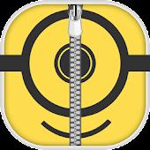 Yellow Smiley Zip Lock Screen