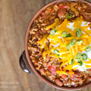 Easy 3 Ingredient Chili.
