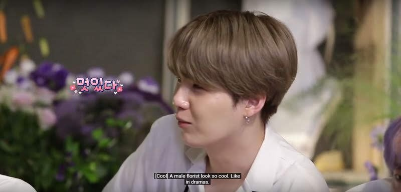 Handsome Florist Teacher Complimented by BTS SUGA