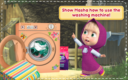 Masha and the Bear: House Cleaning Games for Girls  screenshots 21