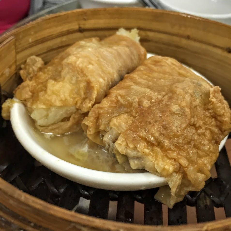 蠔油鴛鴦扎 Chicken Wrapped with Bamboo Sheet