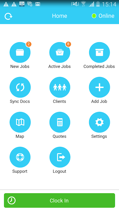 Fleetmatics WORK Android 4.0+- screenshot