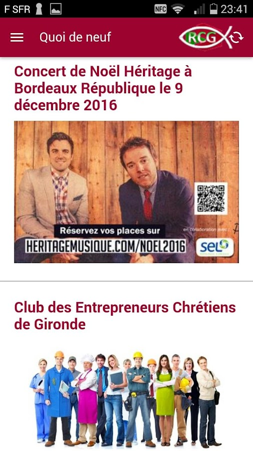 Christian Gironde Network- screenshot