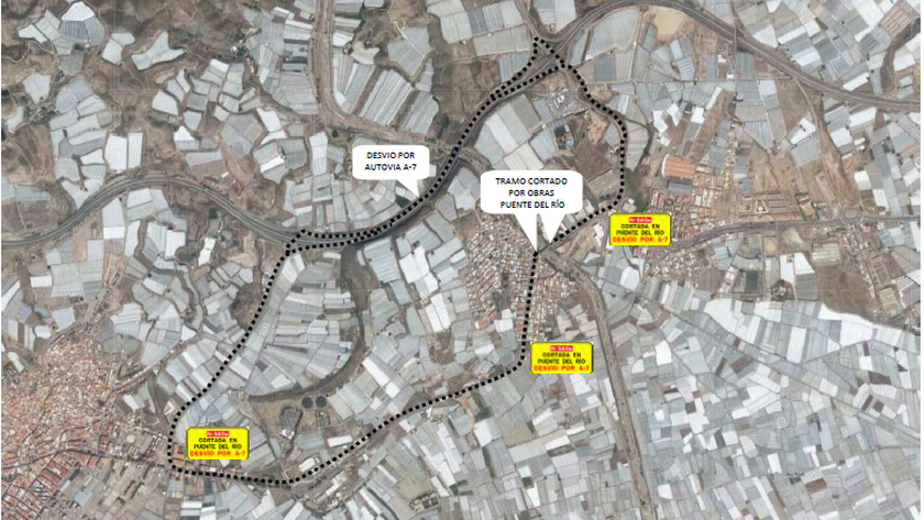 Rutas alternativas recomendadas por el Ministerio.
