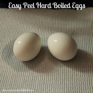 Easy Peel Hard Boiled Eggs.