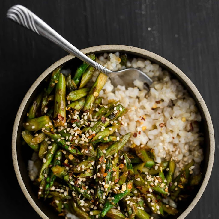 Asparagus Stir-Fry with Sesame-Miso Sauce Recipe