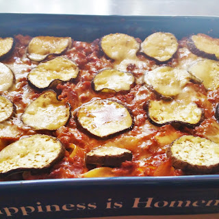Lasagna with Tofu Crumbles and Eggplant