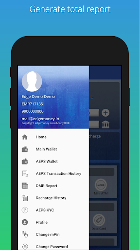 Download EdgeMoney-AEPS mPOS MoneyTransfer Wallet PAN IRCTC on PC