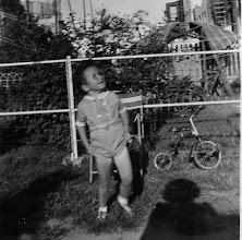Photo: Fr. Jim showing a dangerous amount of leg  1942