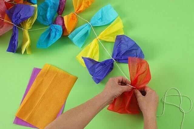 Воздушный змей из бумаги