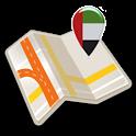 Map of UAE offline icon