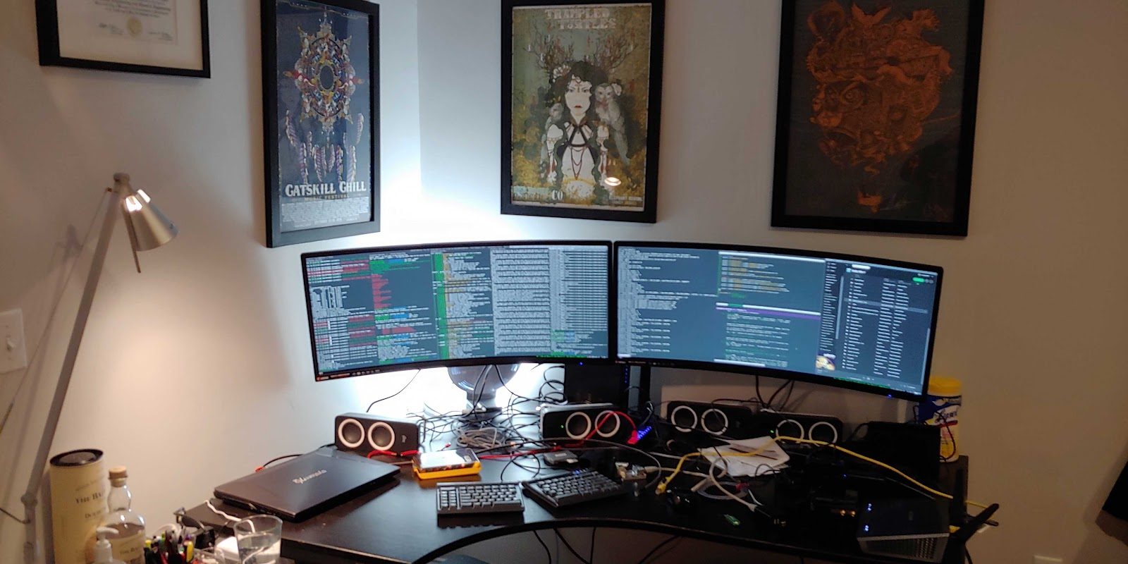 work from home office station