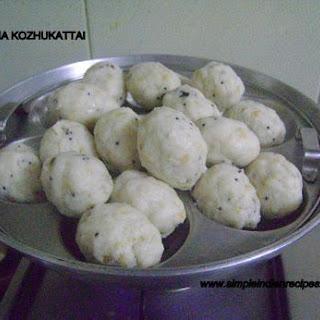(Pidi Kozhukattai, Kaar Kolukattai, Steamed Rice Dumplings)