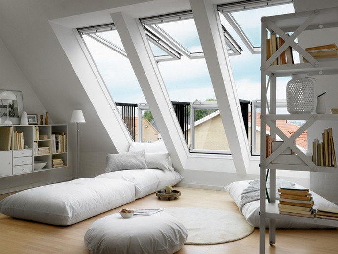 Attic Bedroom with Large Window