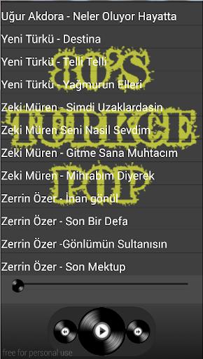 Seksenler Türkçe Pop