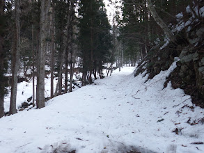 沢手前で除雪終了