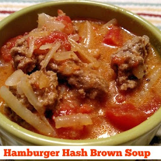 One-Pot Hamburger Hashbrown Soup