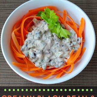 Creamy Black Bean and Carrot Ribbon Salad