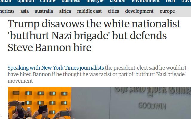 Alt-Right to Butthurt Nazis