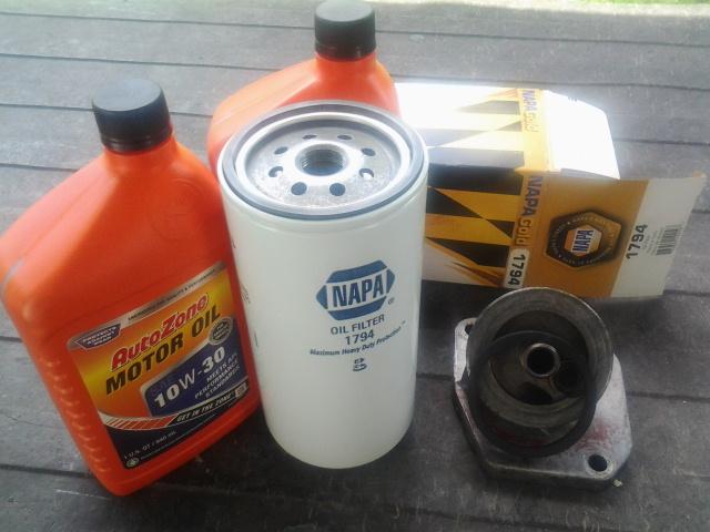 Photo: AMC Rambler 327 Oil Filter Experiment  amcramblermarlin.1colony.com