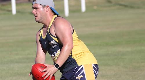 Luke McDermott in action at the Sydney Swans senior kicking clinic on Monday, February