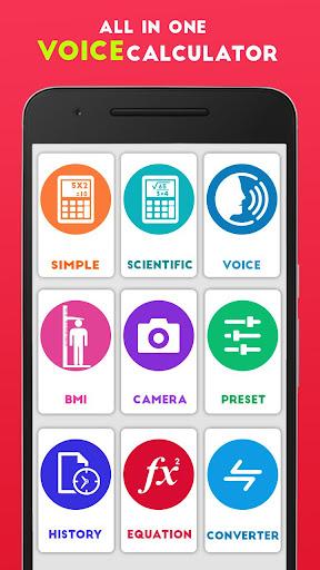 All in one voice calculator:Camera, BMI,  Presets for PC