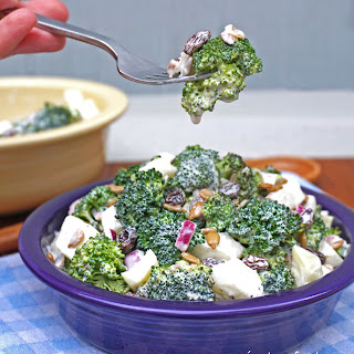 Creamy Broccoli and Cucumber Salad.