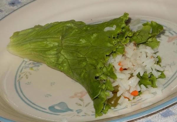 Cone Sushi in Lettuce Leaf for Salad