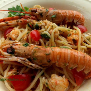 Spaghetti With Langoustines And Cherry Tomatoes