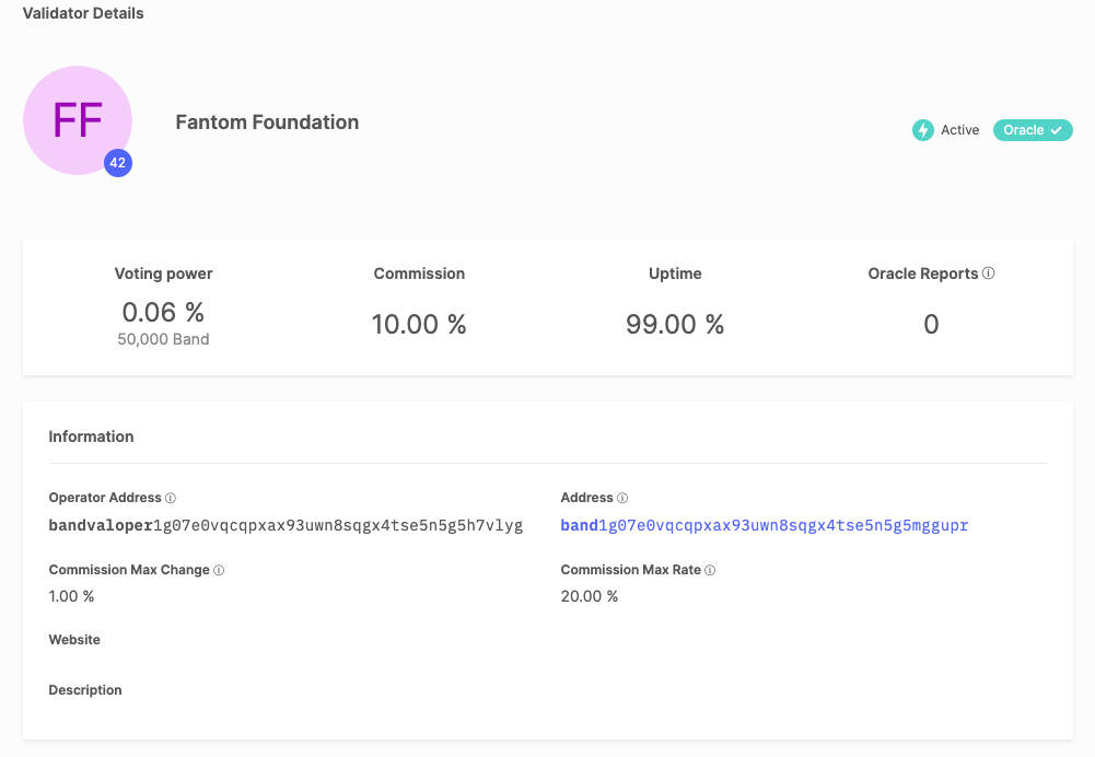 Fantom Foundation Node on BandChain