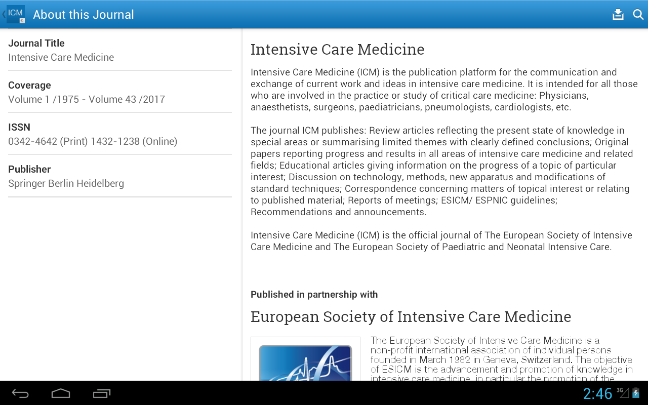 Intensive Care Medicine- screenshot