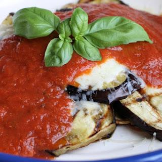 Easy Grilled Eggplant Parmesan
