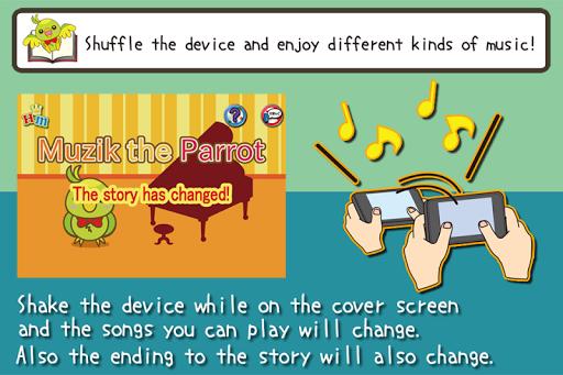 Shuffle Book Muzik the Parrot