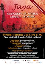 Foto: Jaya - Concerto di antica musica indiana. 4 gennaio 2013 a Cividale del Friuli (UD)