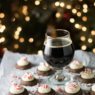 Peppermint Frosted Chocolate Stout Cookies.