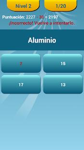 Quiz de la tabla peridica apps en google play imagen de la captura de pantalla urtaz Images