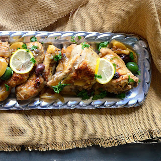 Honey Glazed Chicken with Lemon and Olives