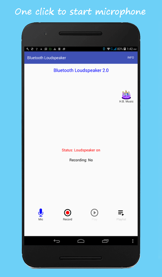 Bluetooth Loudspeaker- screenshot