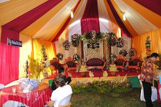 Photo: il palco per gli sposi