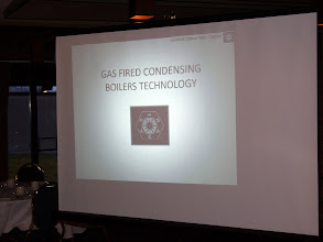 Photo: The Tech presentation was on Gas Fired Condensing Boiler Technologies